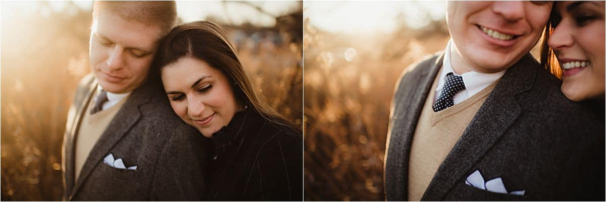 Sunset Winter Engagement Session