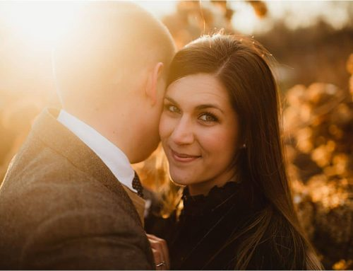 Sunset Winter Snow Engagement Session | Madison, Wisconsin