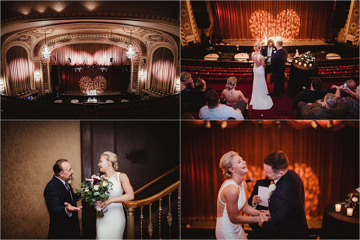 Urban Fall Wedding Ceremony Orpheum Theater