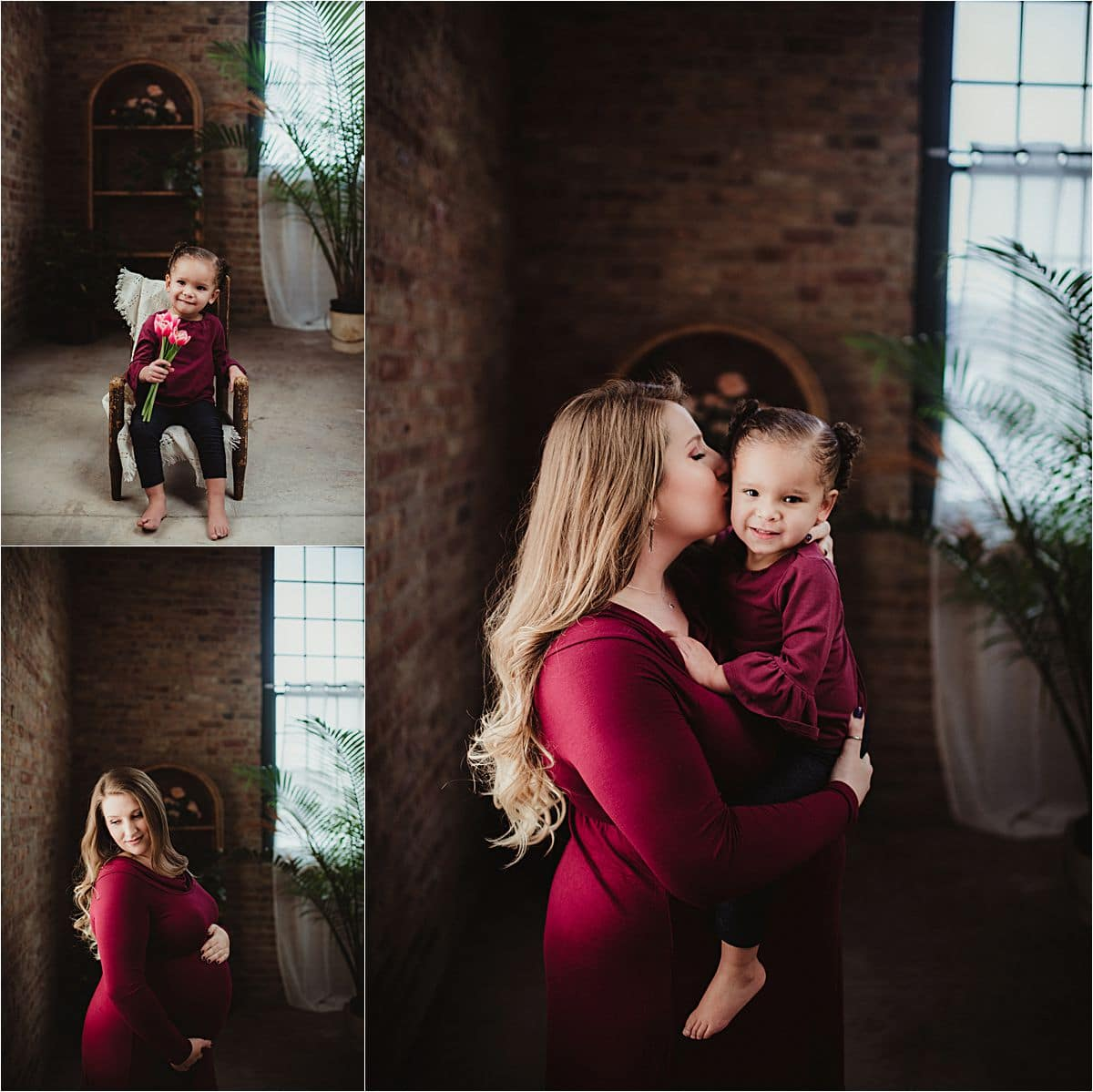 Maternity Session Mom and Daughter