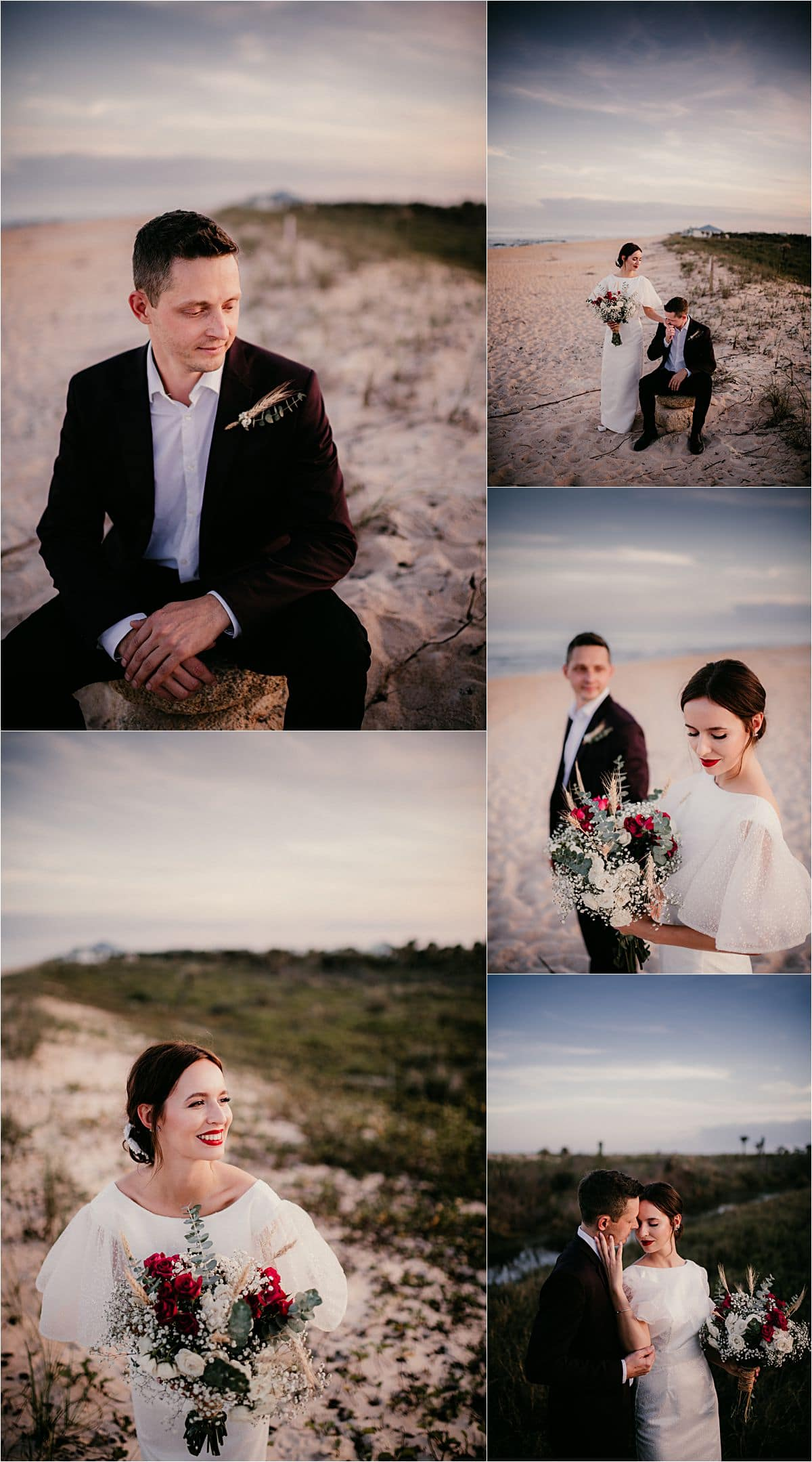 Styled Wedding Shoot Bride and Groom Near Water