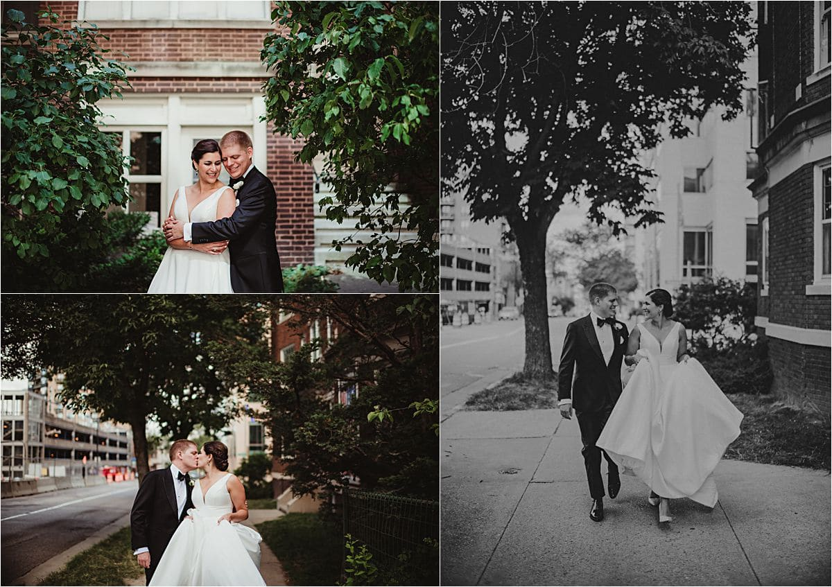 Urban Summer Wedding First Look
