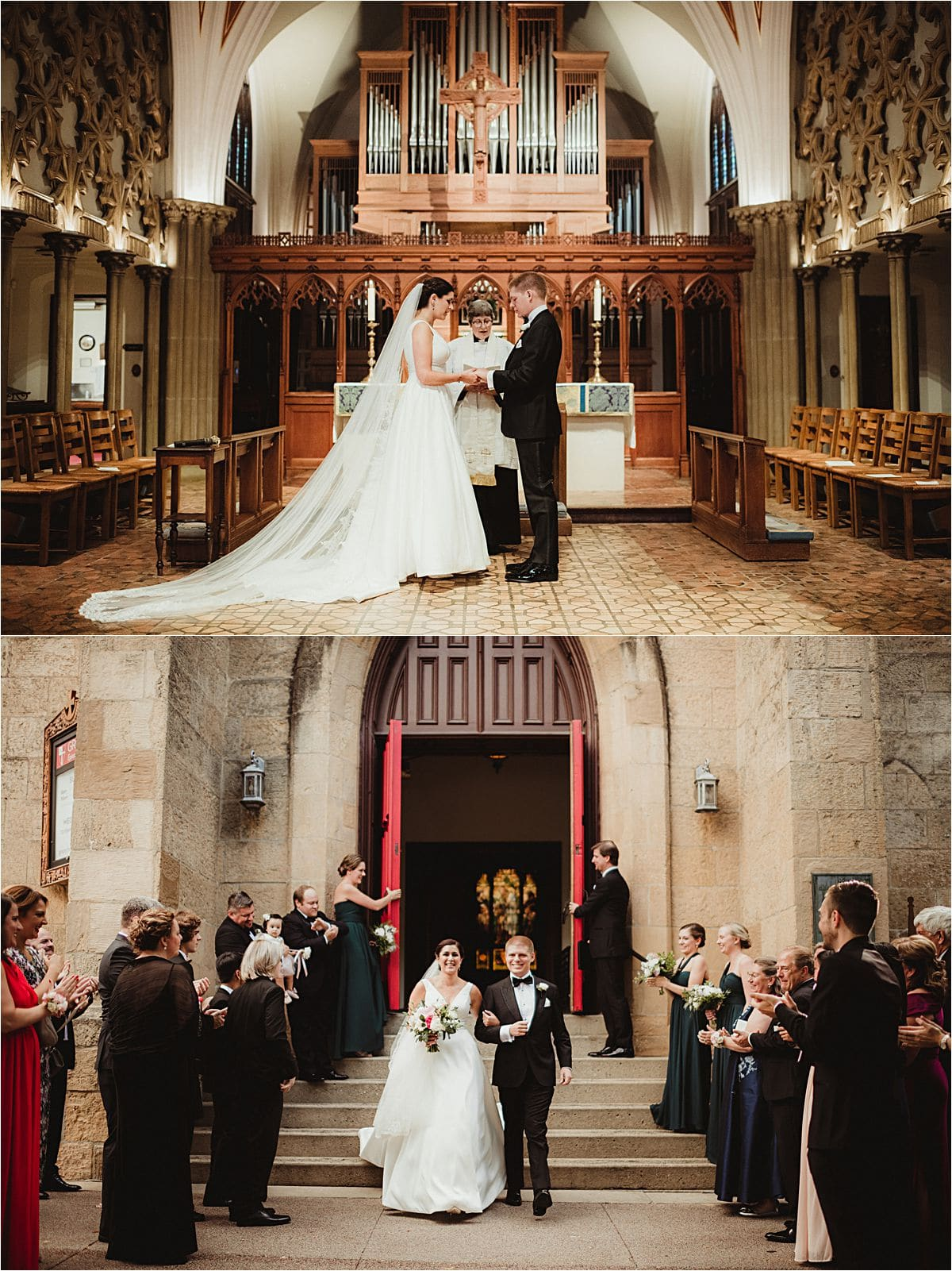 Urban Summer Wedding Church Ceremony