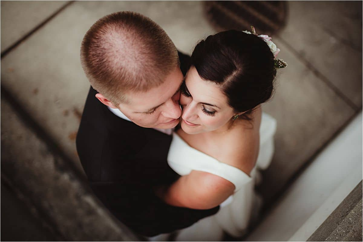 Bride Groom Snuggling