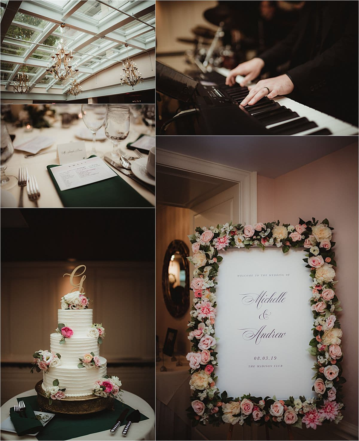 Urban Summer Wedding Reception Details