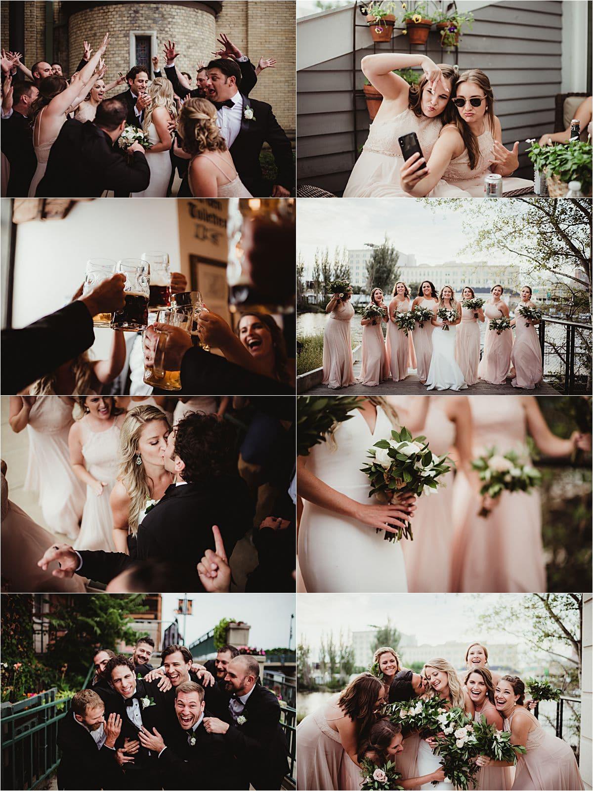 Downtown Milwaukee Wedding Party