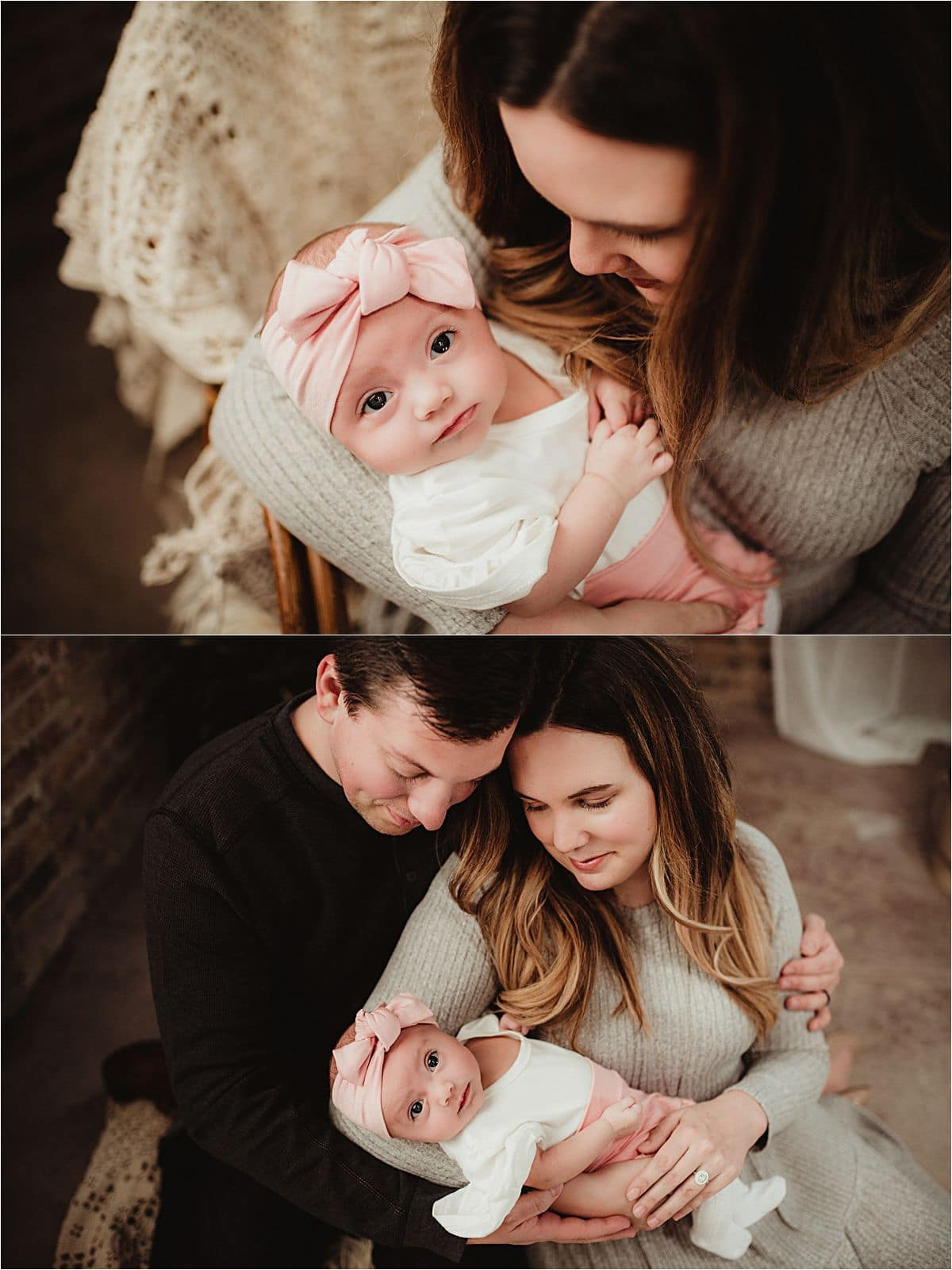 Madison WI Family with Two Month Old Session