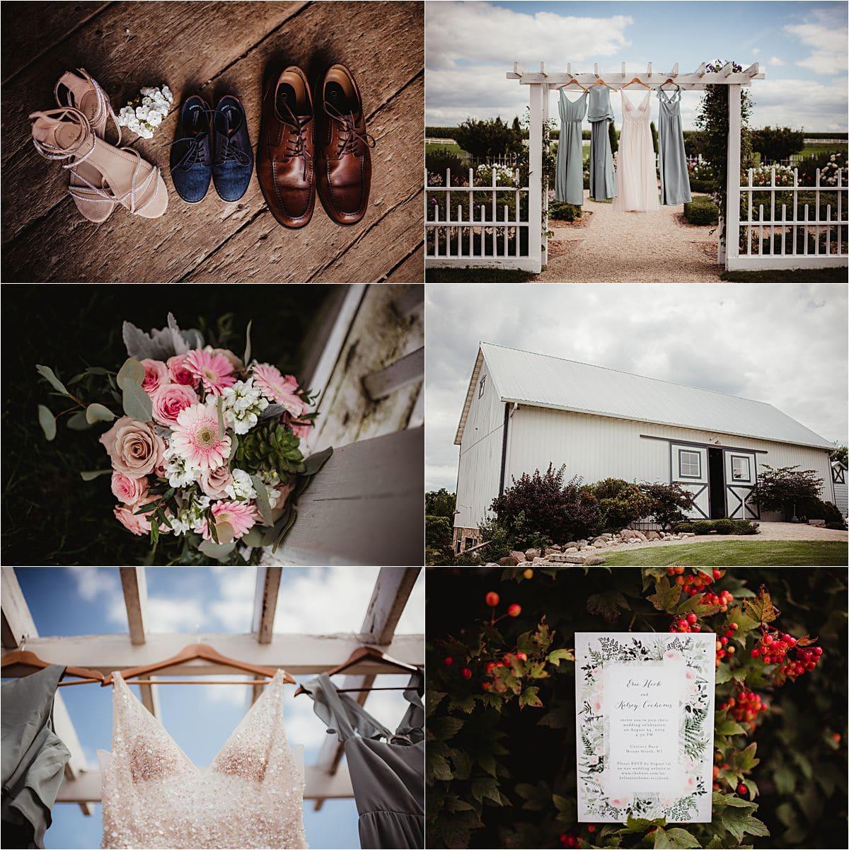 Rural Summer Barn Wedding Getting Ready Details