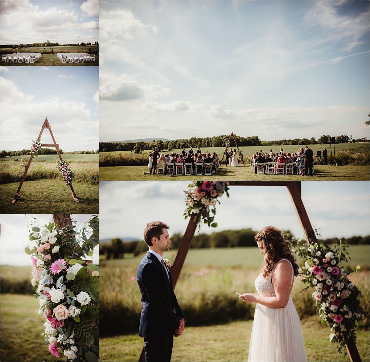 Rural Summer Barn Wedding Ceremony