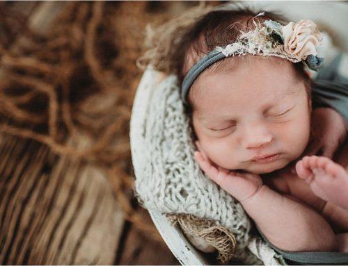 Garver Feed Mill Newborn Girl Session | Madison, WI