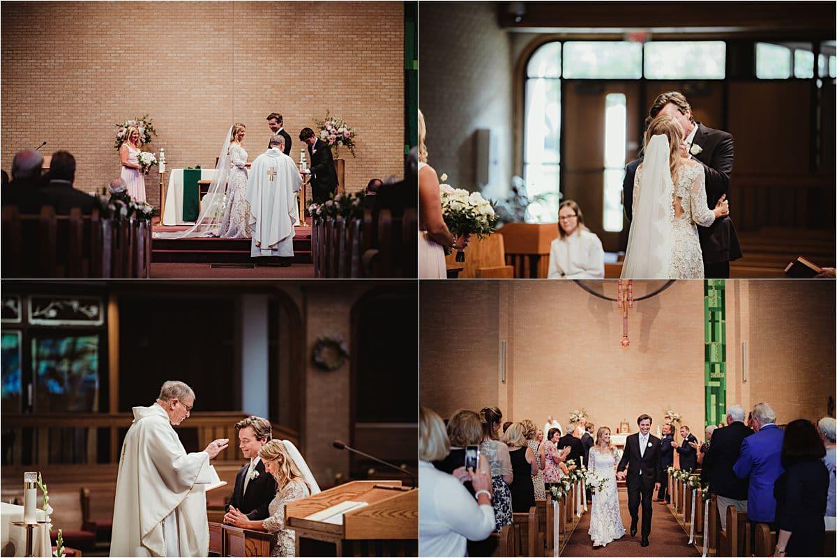Wisconsin Summer Wedding Church Ceremony