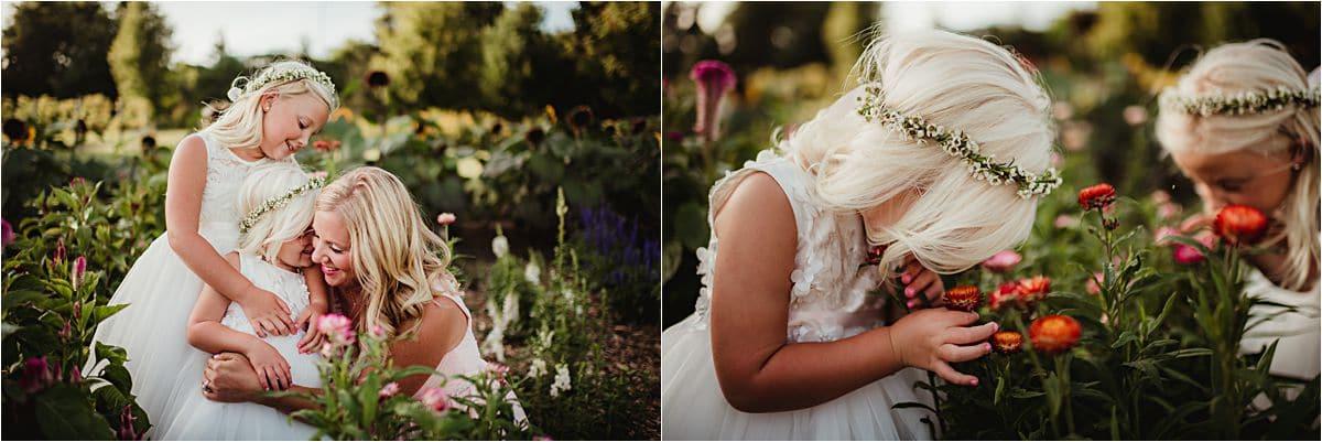 Wisconsin Summer Wedding Flower Girls