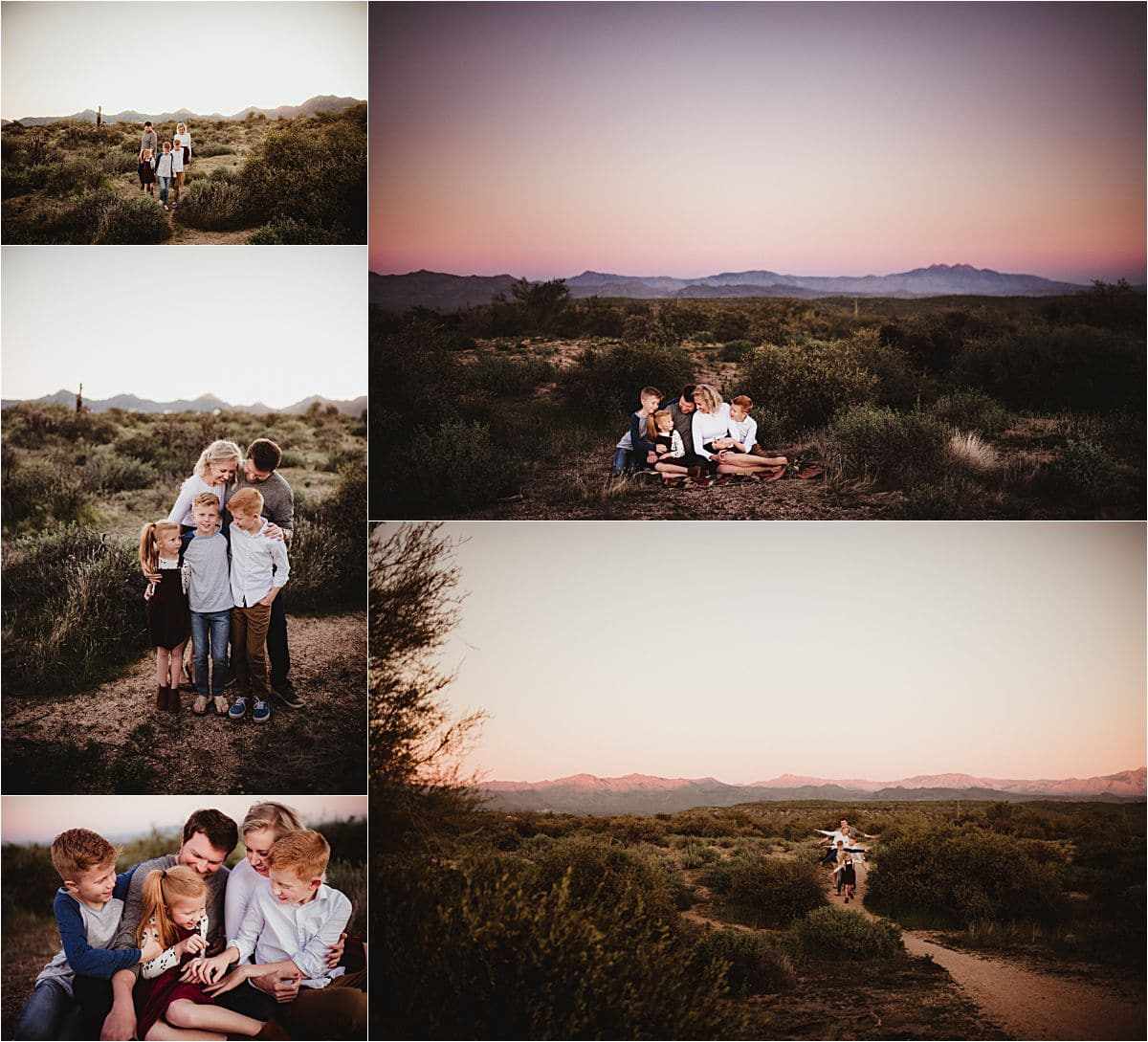 Family Desert Sunset Session Dusk
