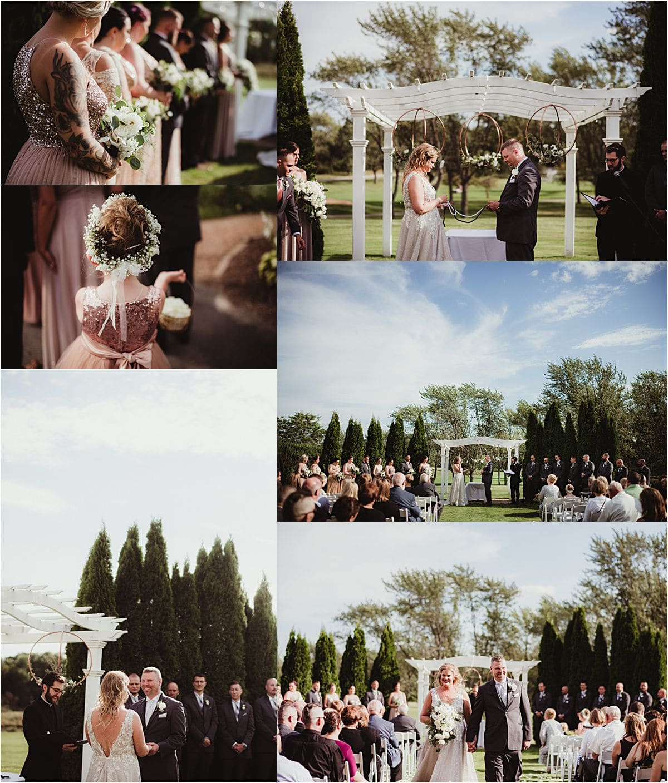 Country Club Wedding Outdoor Ceremony