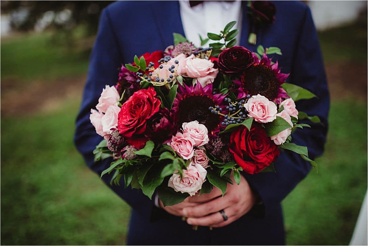 Close Up Bride Bouquet