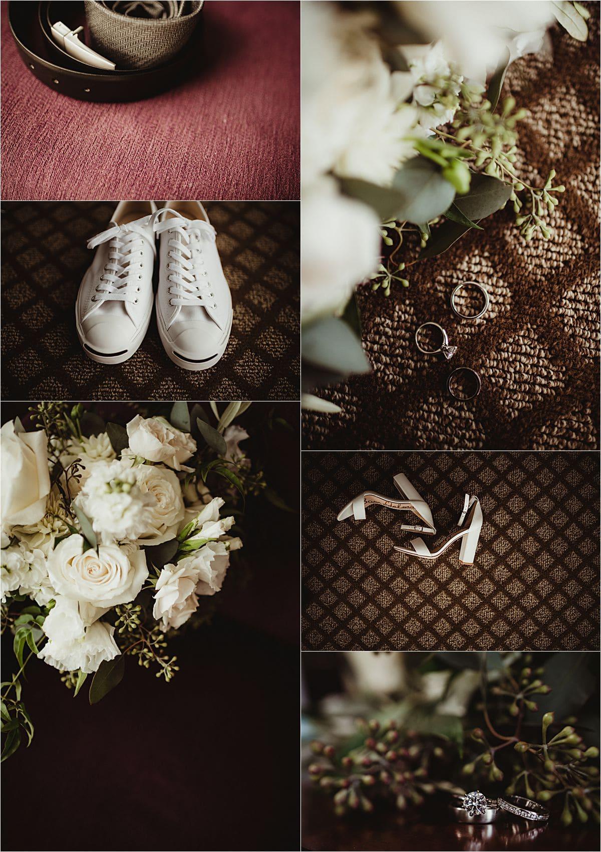 Glamorous September Wedding Getting Ready Details