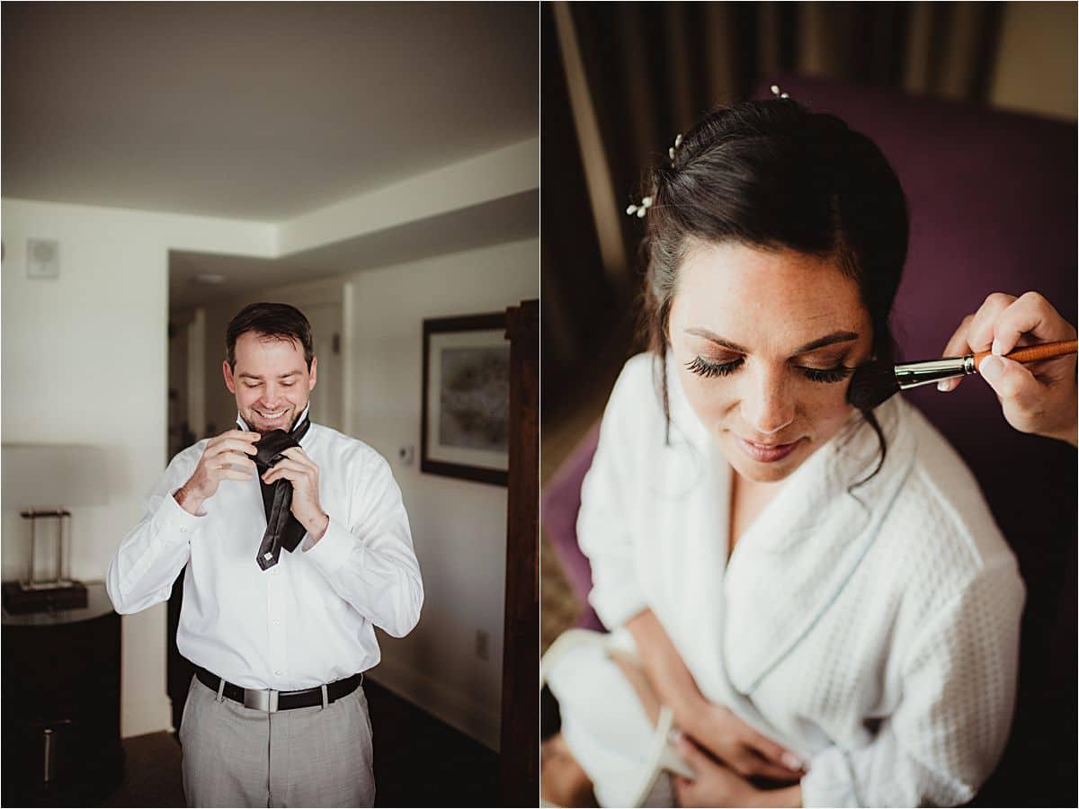 Bride Groom Getting Ready