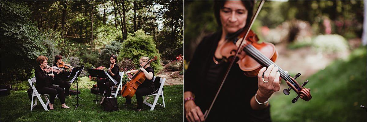 Close Up Ceremony Violin Player