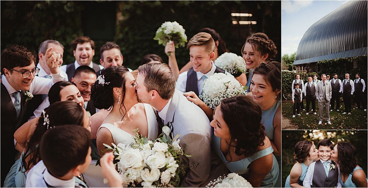 Glamorous September Wedding Party