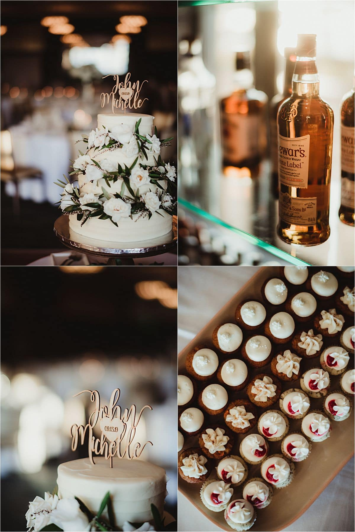 Glamorous September Wedding Reception Desserts