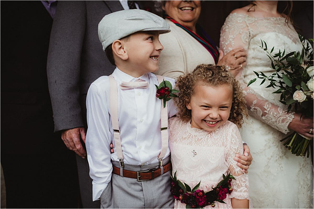 Close Up Flower Girl and Ring Bearer
