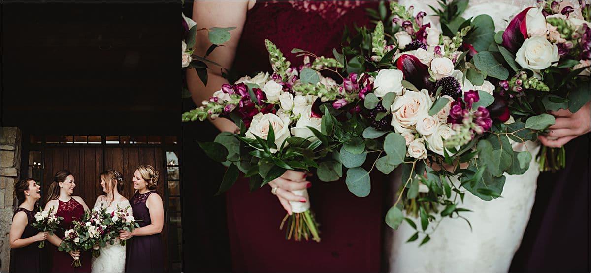 Close Up Bridesmaid Florals