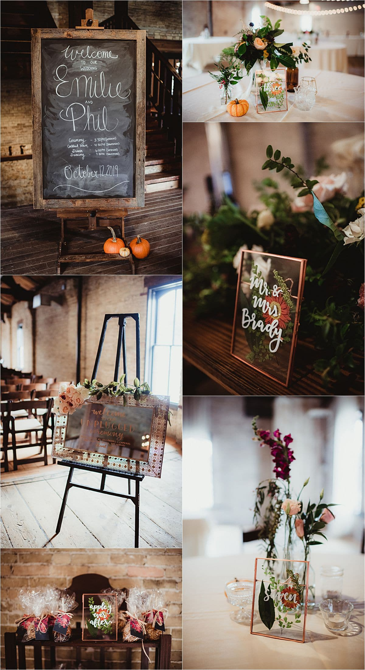 Rustic Fall Wedding Reception Details