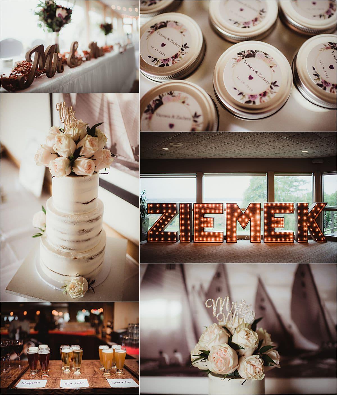 Rainy Day Wedding Reception Details