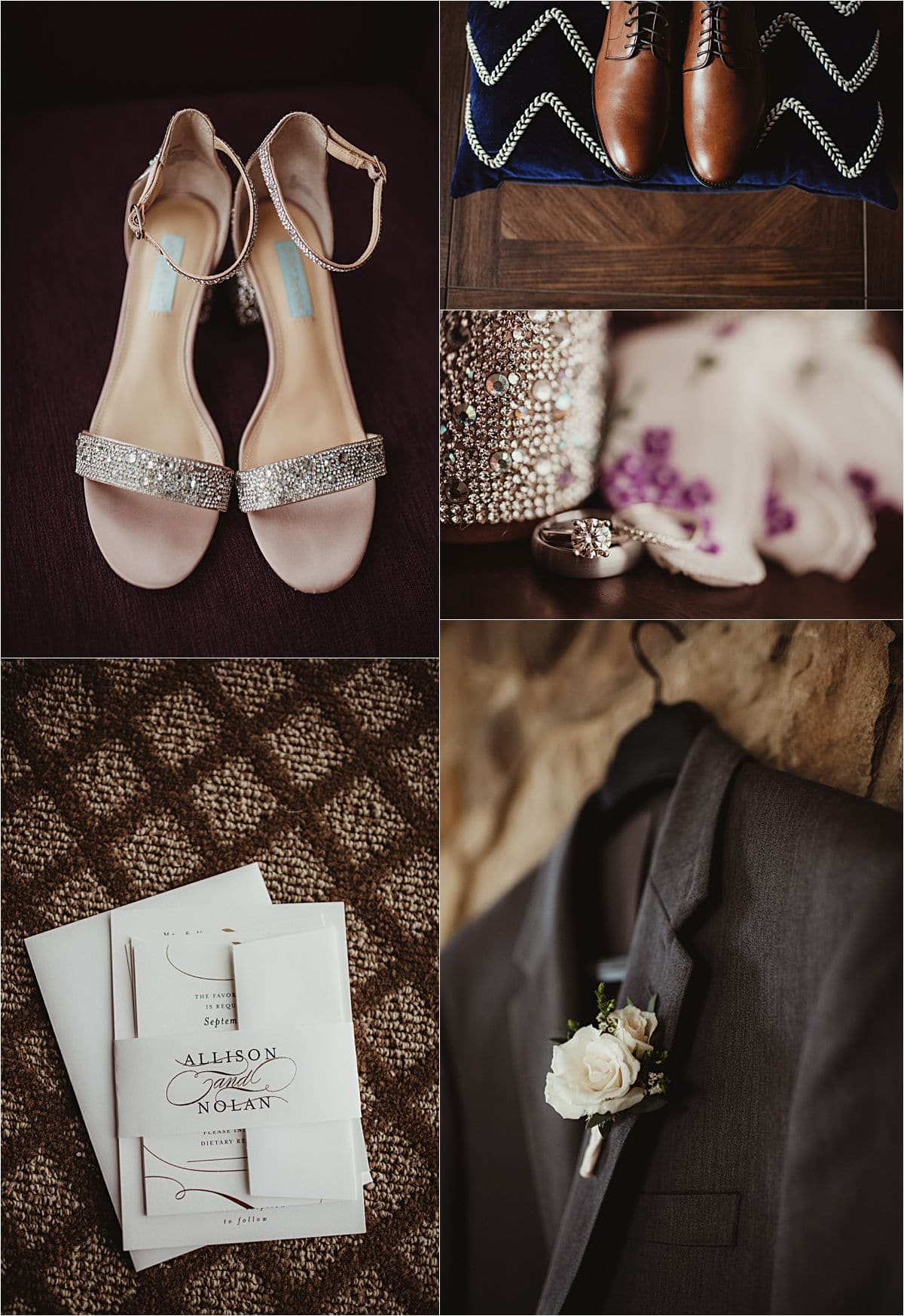 Glamorous Fall Wedding Getting Ready Details