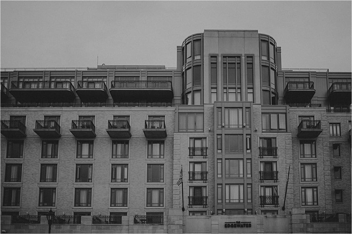 Black and White Image The Edgewater