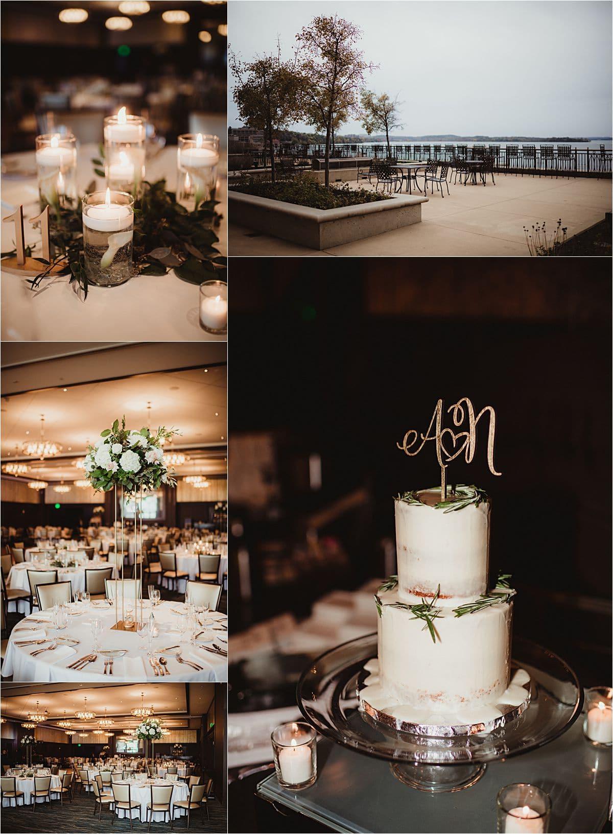 Glamorous Fall Wedding Reception Details