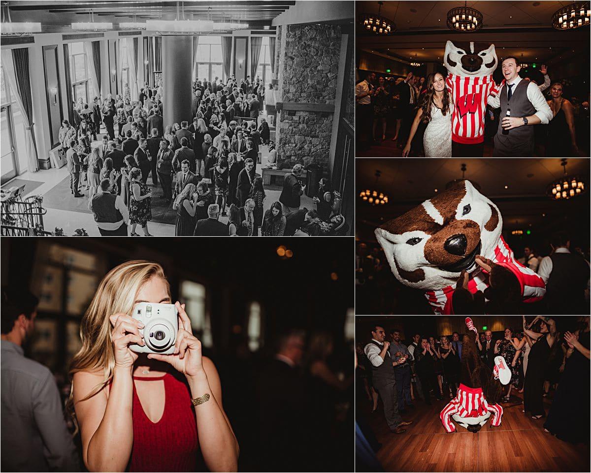 Bucky Badger at Reception