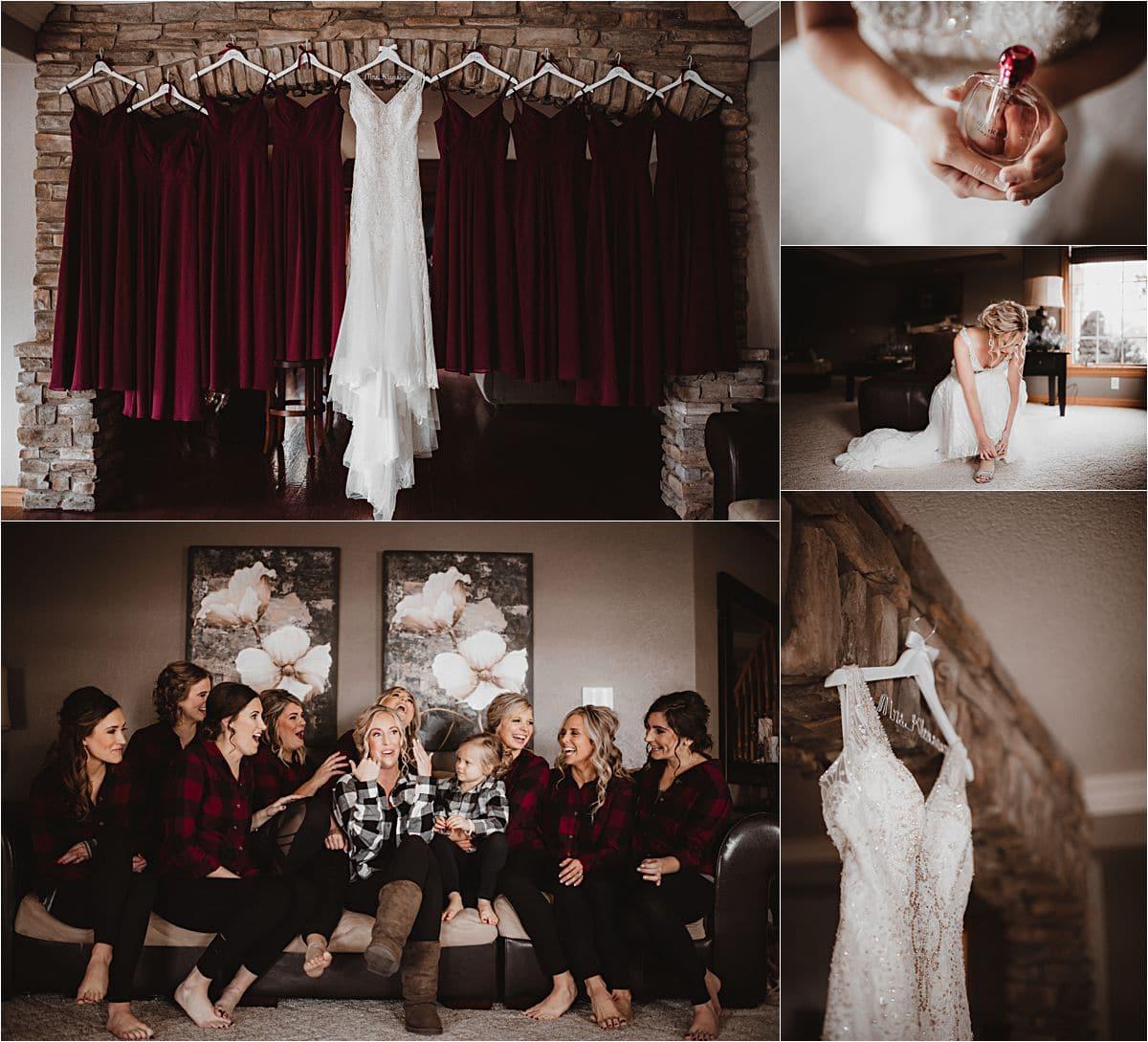 Snowy Winter Wedding Getting Ready Details