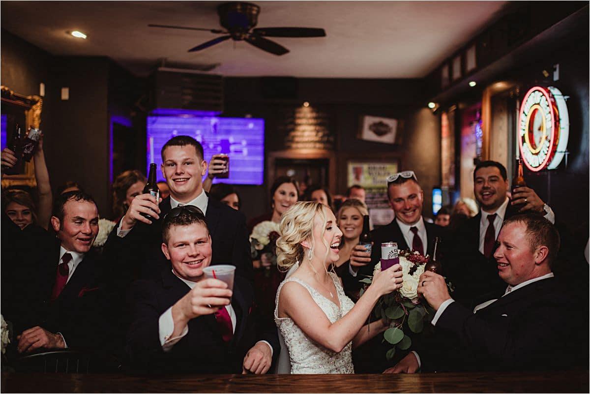 Wedding Party at Bar