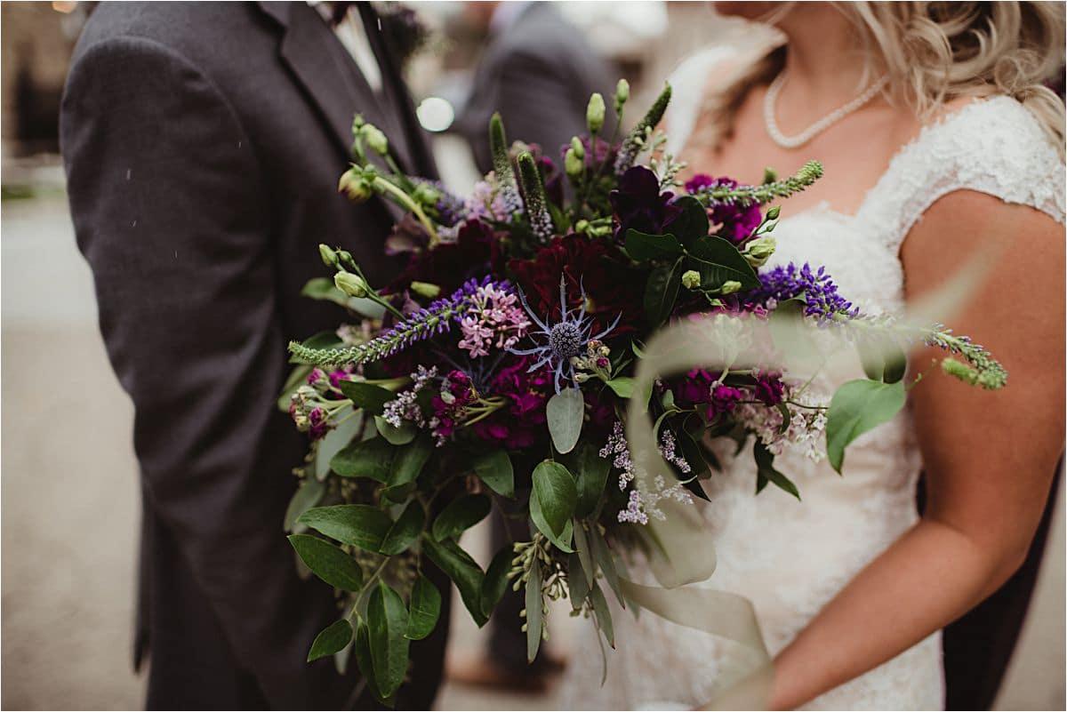 Winter Wedding Close Up Bridal Bouquet