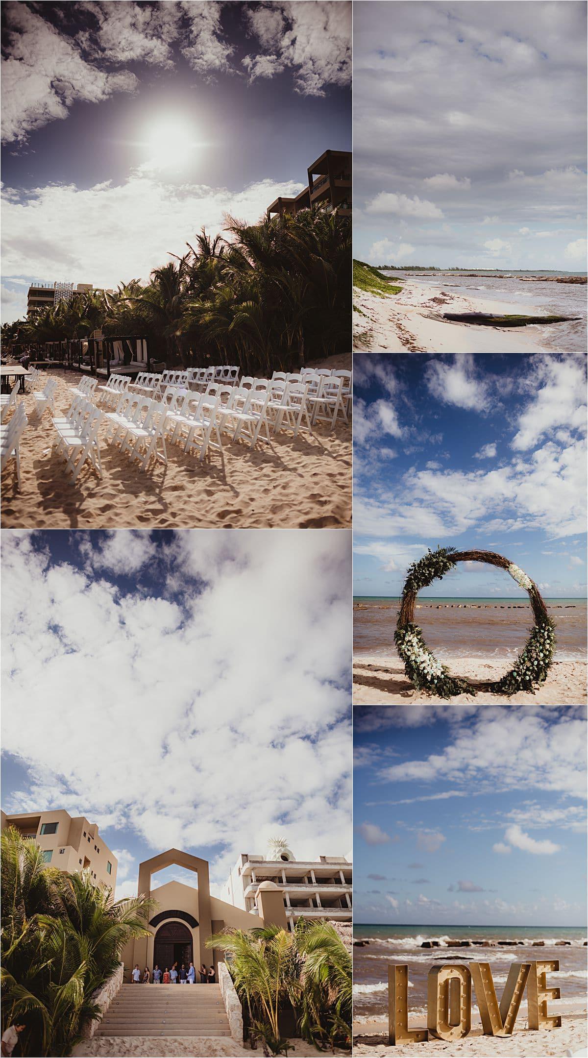 Riviera Maya Beachfront Wedding Ceremony Details