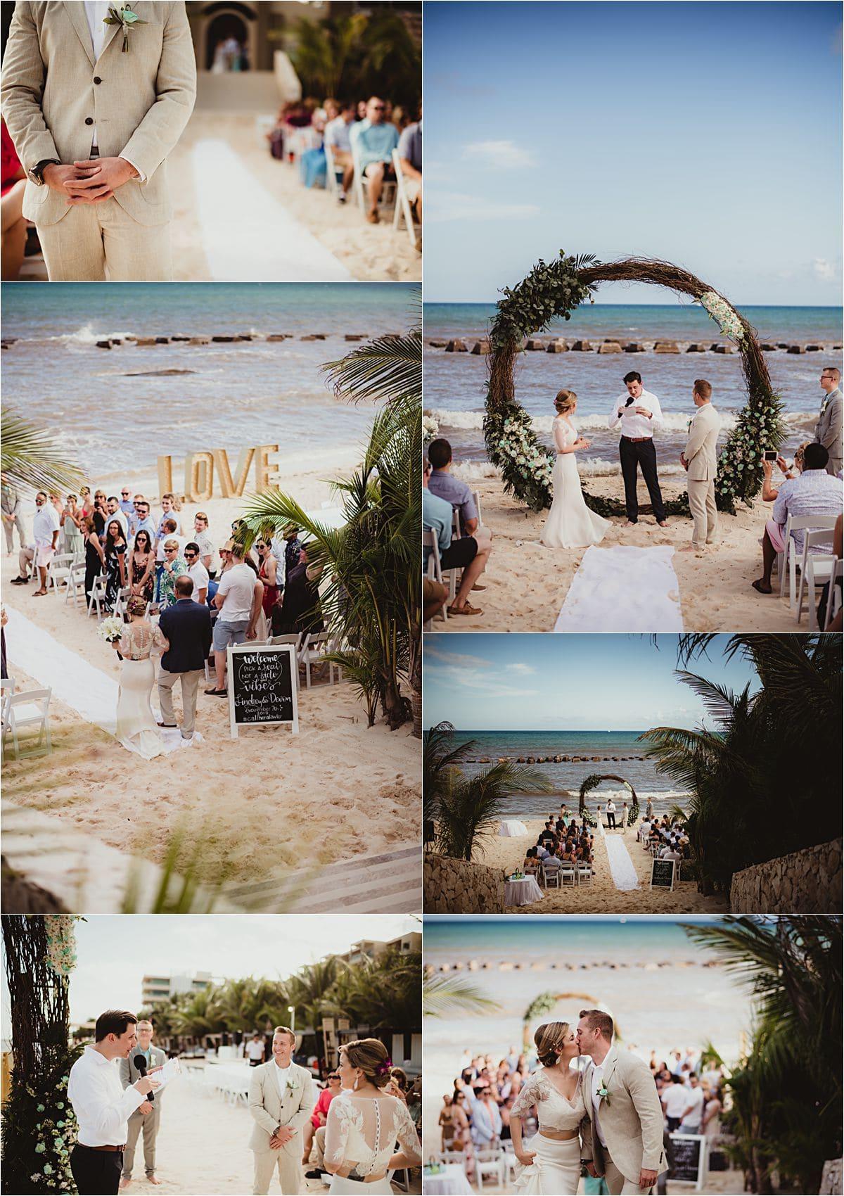 Riviera Maya Beachfront Wedding Ceremony