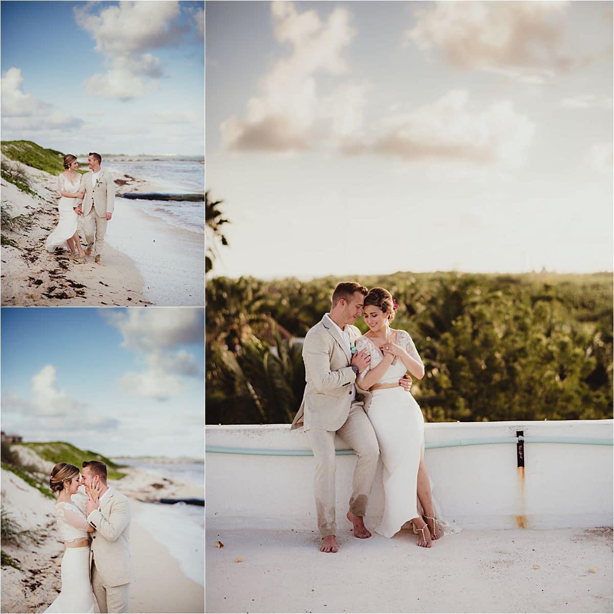 Riviera Maya Beachfront Couple