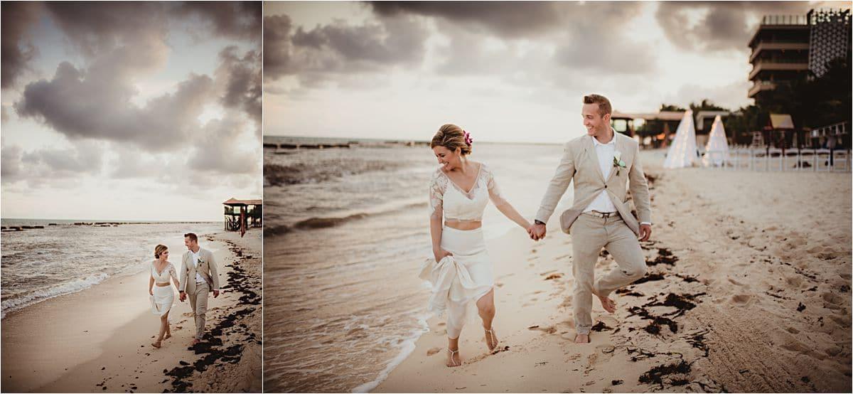 Riviera Maya Beach Bride and Groom