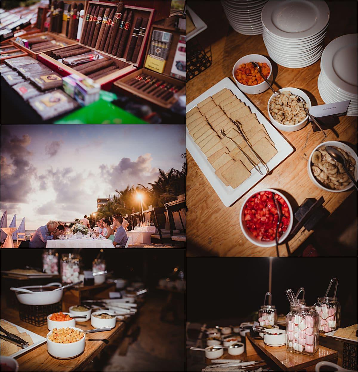 Riviera Maya Beachfront Wedding Reception Details