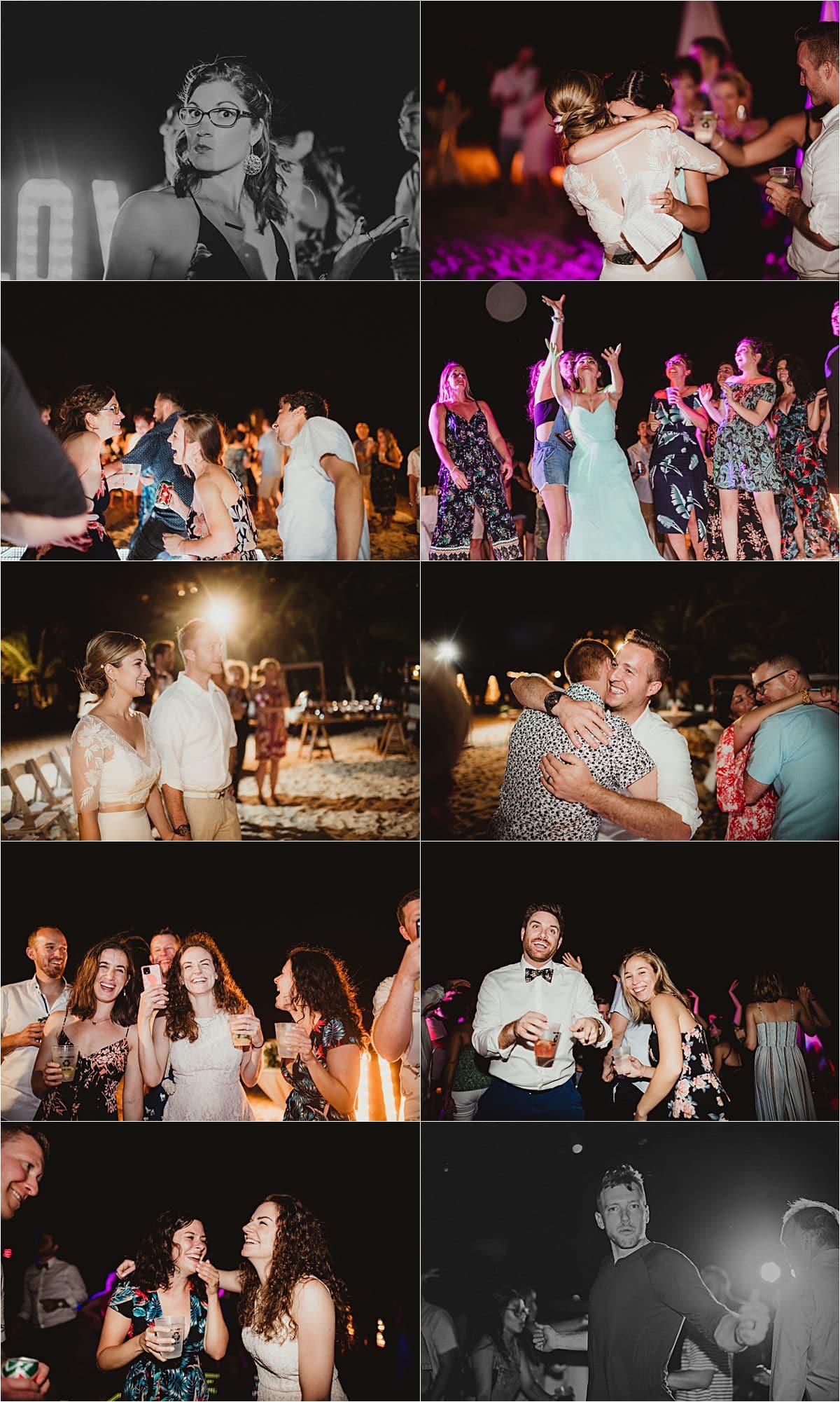 Riviera Maya Beachfront Wedding Reception Dancing