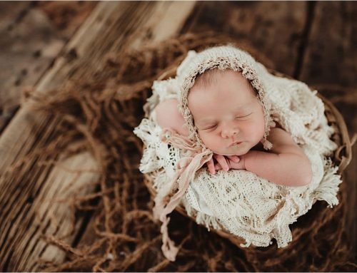 In Studio Newborn Girl Spring Blooms Session | Garver Feed Mill, Madison WI