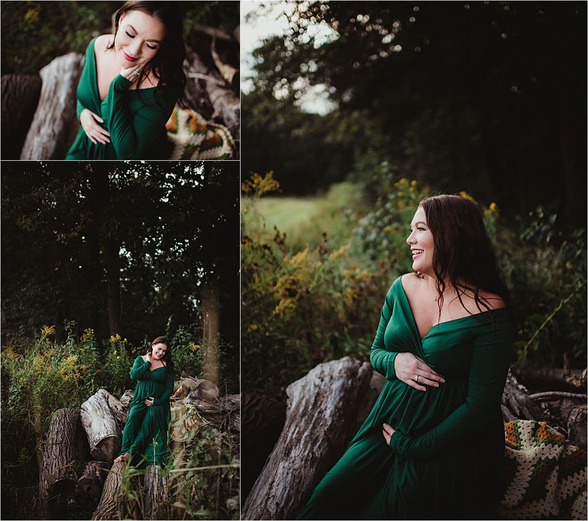 Summer Maternity Session in Woods