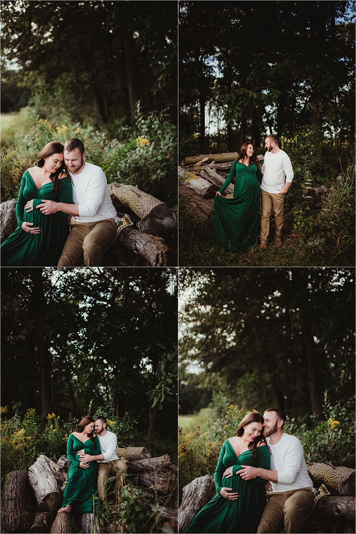Summer Maternity Session Couple Snuggling
