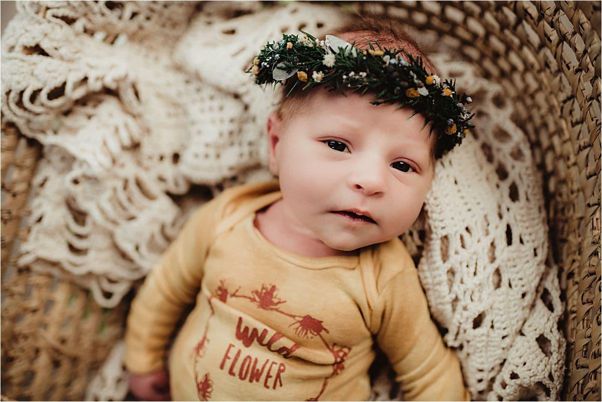 Studio Newborn Session Wildflower Onesie