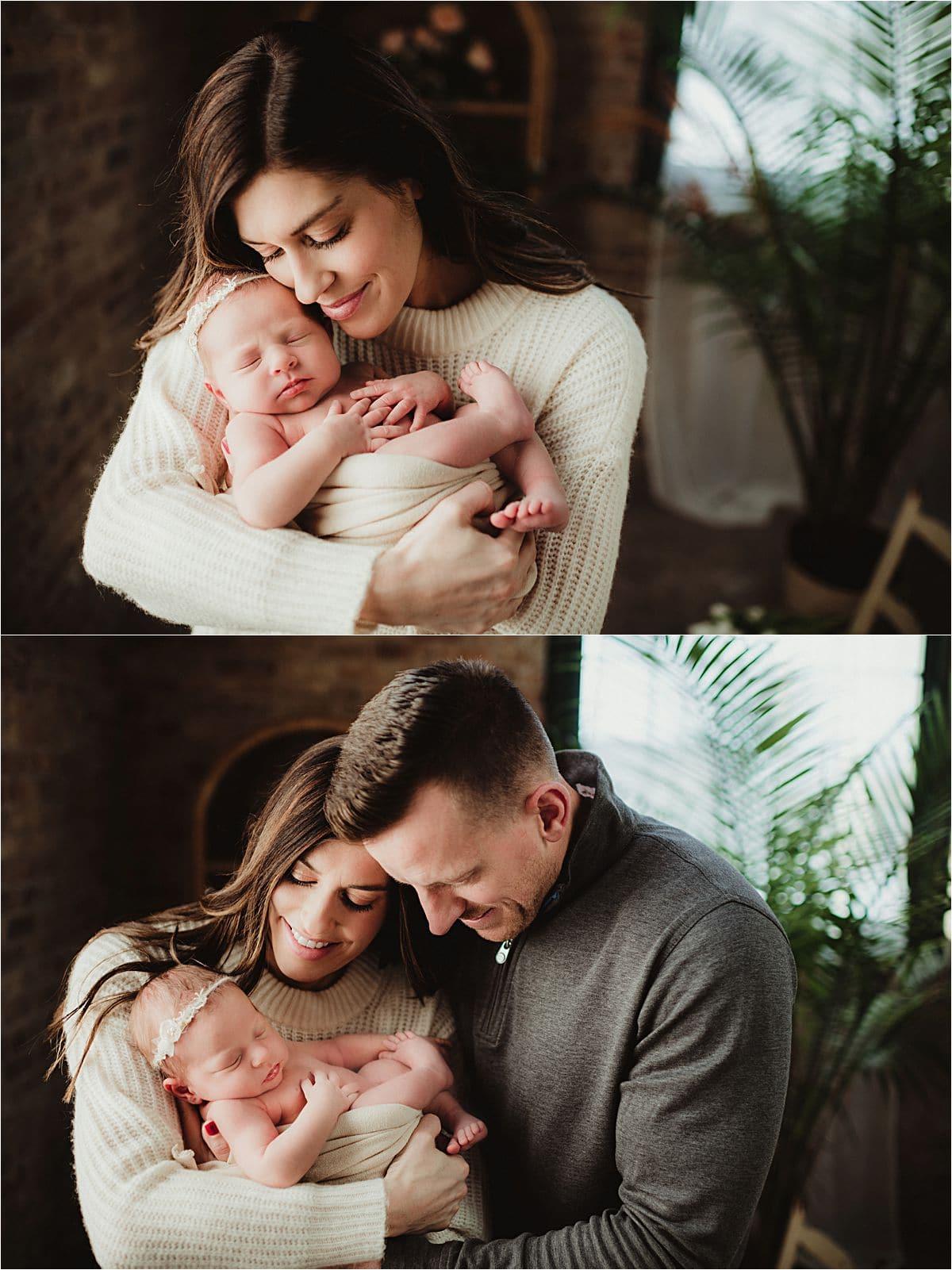 Studio Newborn Session with Parents