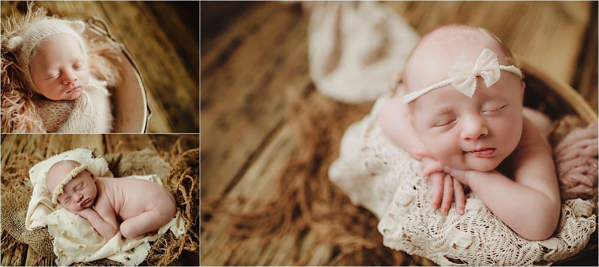 Newborn Girl in Neutral Colors