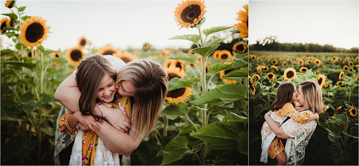 Summer Sunflower Session Mama and Daughter