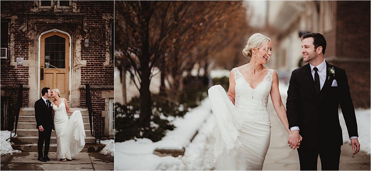 Urban Winter Wedding First Look