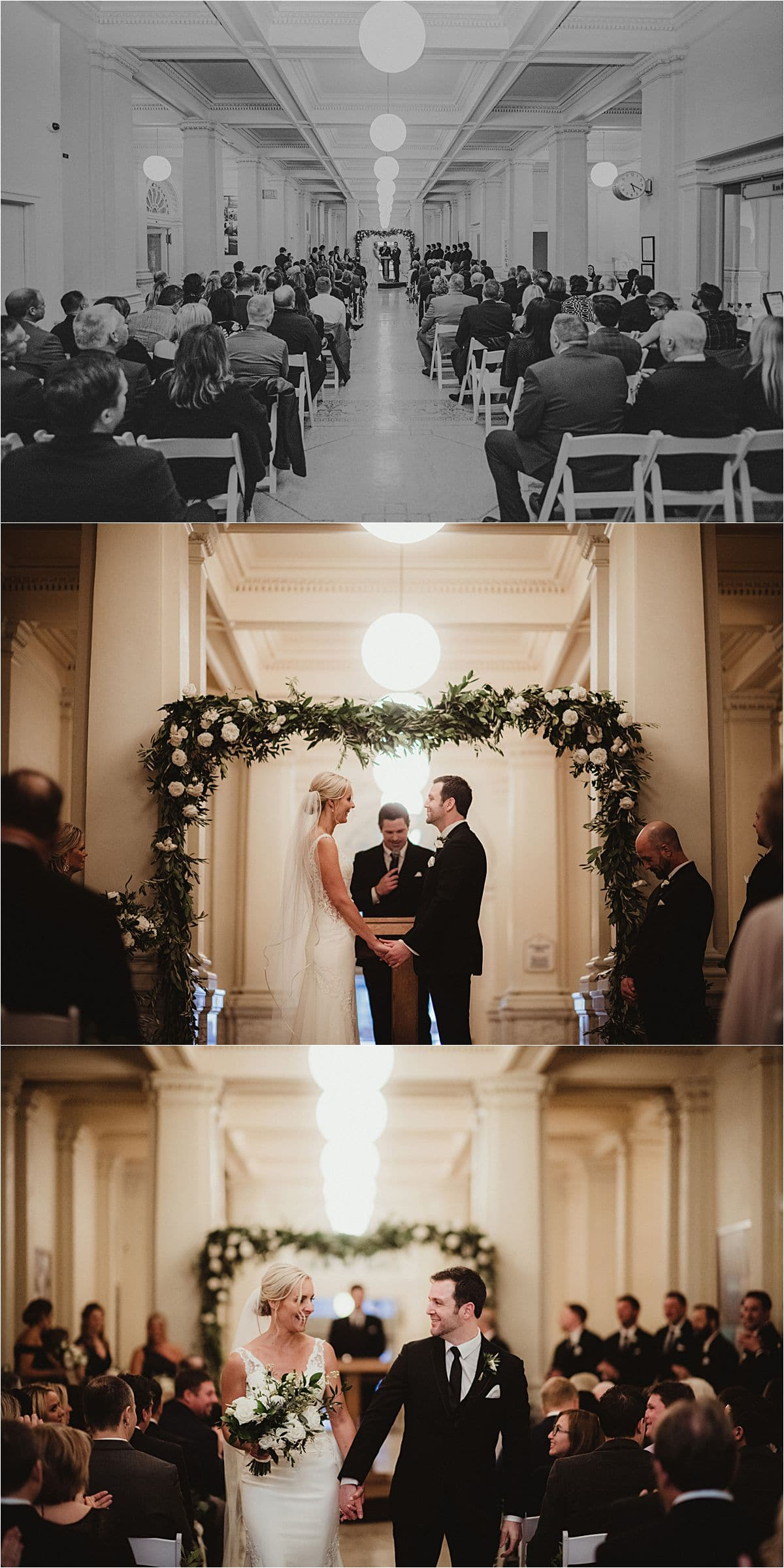 Urban Winter Wedding Ceremony
